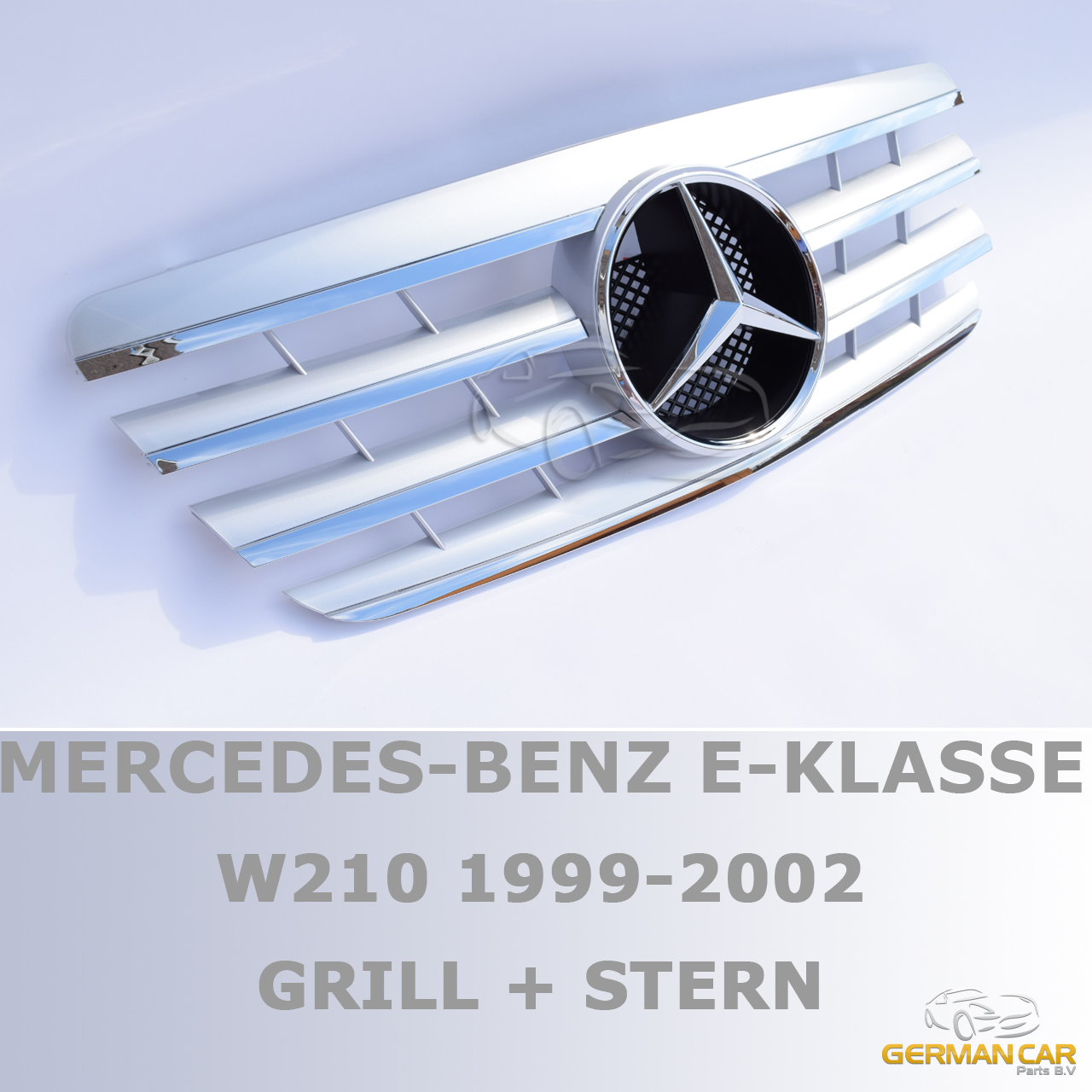 Grille sport for mercedes w210 s210 e 1999 2002 silver for Looking for mercedes benz parts