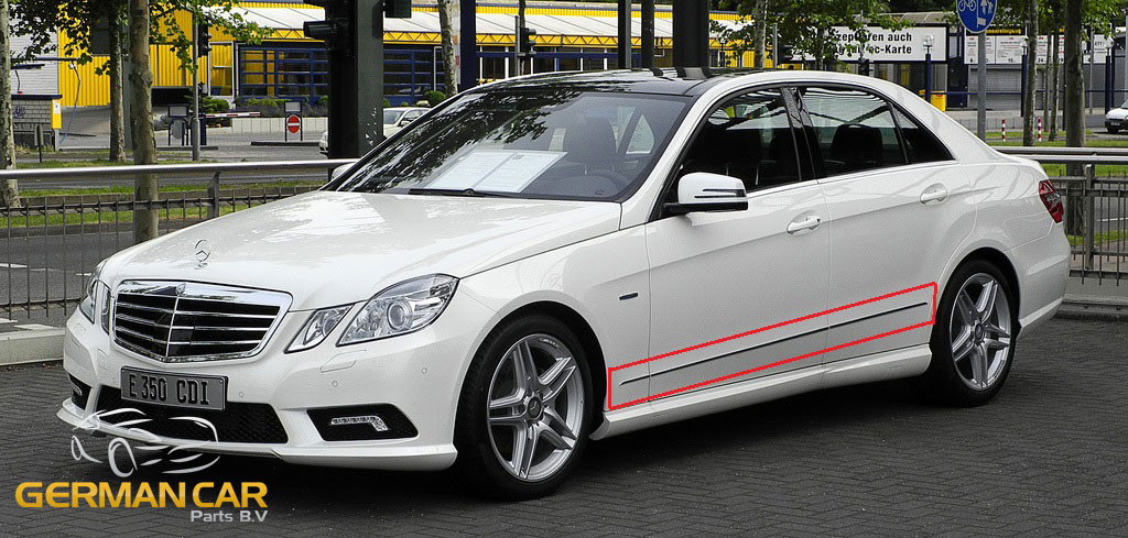 Chrome door side panels molding trim for mercedes w212 for Mercedes benz e350 aftermarket parts