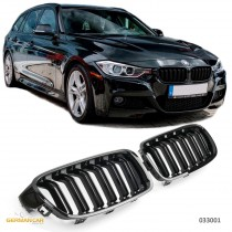 BMW F30 F31 SPORT GRILLE KIDNEY DOUBLE SLAT M3 LOOK GLOSS BLACK