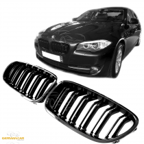BMW F10 F11 F18 SPORT GRILLE KIDNEY M5 LOOK GLOSS BLACK