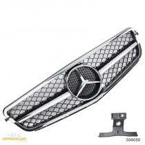 Grille Sport for Mercedes W204 S204 Black Chrome C63 AMG LOOK